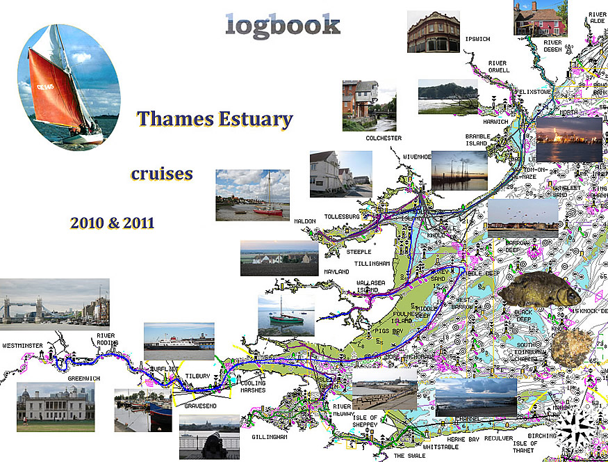 Map of cruises 2010 & 2011